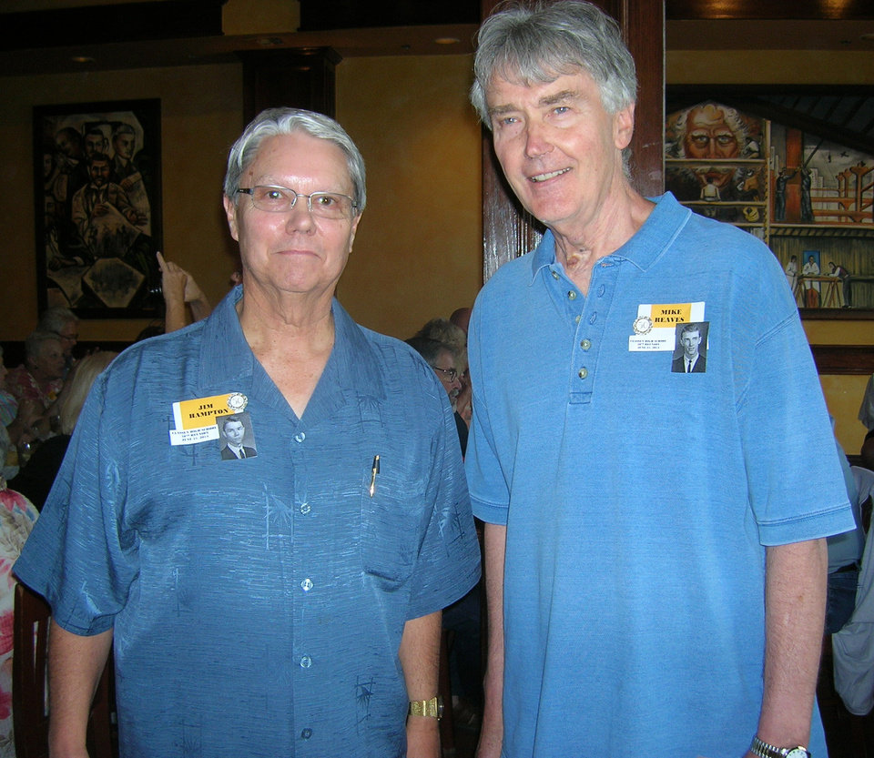 Photo -  Jim Hampton, left, and Mike Reaves have been friends for decades. They were in Scouting together and were classmates at Classen High School. PHOTO BY STEVE GUST, FOR THE OKLAHOMAN   PROVIDED