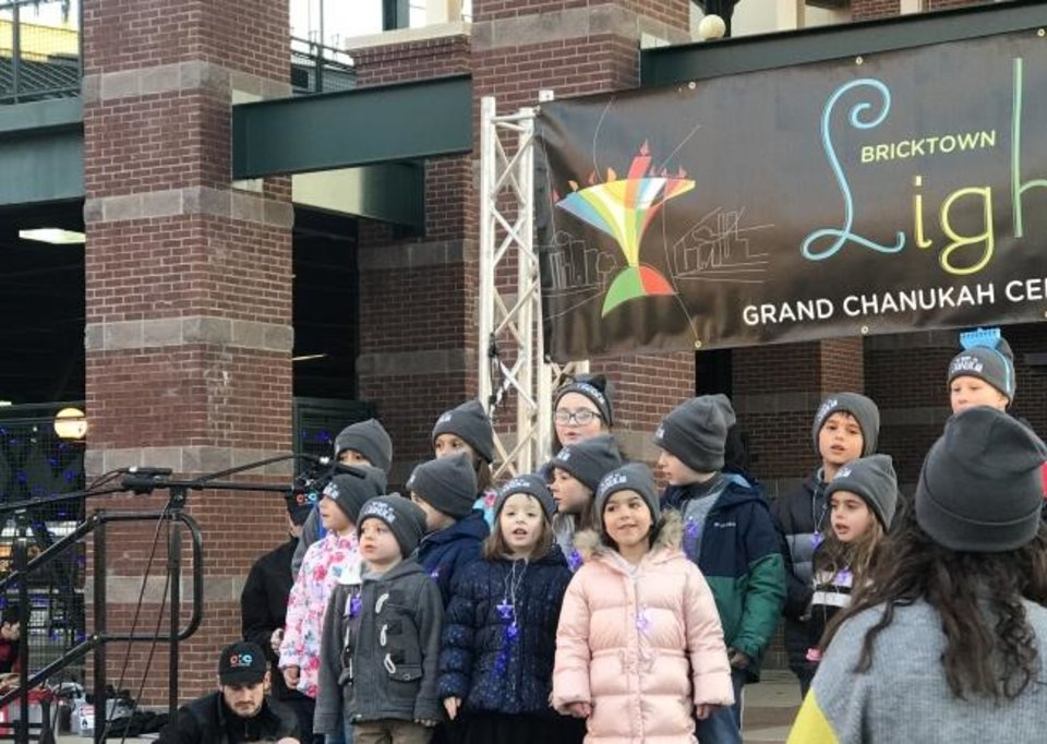 Photo -  Children from the Chabad Hebrew School sing