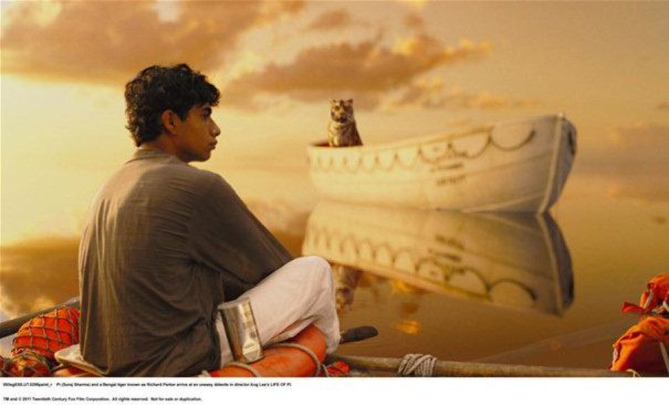 "Suraj Sharma portrays a boy cast away with a Bengal tiger in Ang Lee's ""Life of Pi,"" nominated for 11 Academy Awards. 20th CENTURY FOX PHOTO <strong></strong>"