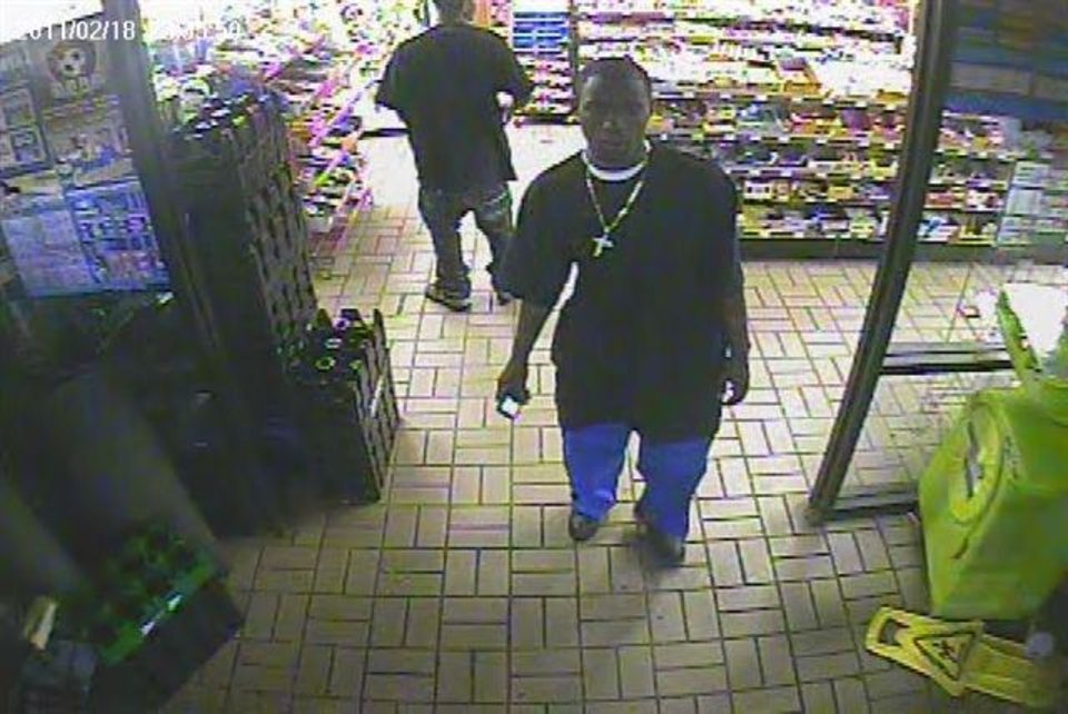 Photo - The witness is seen in this surveillance image.