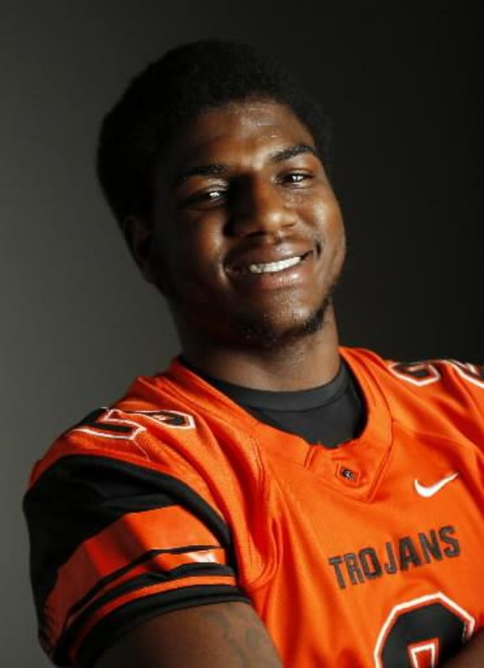 Douglass defensive end Deondre Clark will visit Oklahoma for its April 13 spring game, according to his mother. PHOTO BY NATE BILLINGS, THE OKLAHOMAN