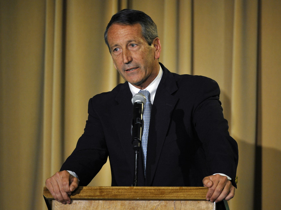 Former South Carolina Gov. Mark Sanford answers a question during the 1st Congressional District debate on Monday, April 29, 2013 in Charleston, S.C. (AP Photo/Rainier Ehrhardt)