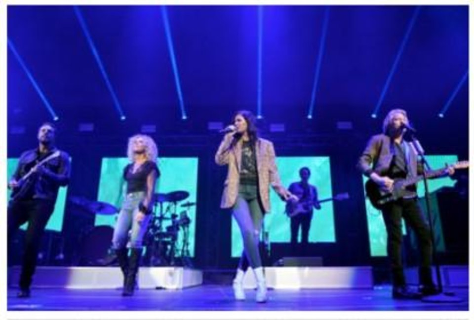 Photo - Little Big Town performs at the Country Rising benefit concert Sunday at Nashville's Bridgestone Arena. Photos provided courtesy of Getty