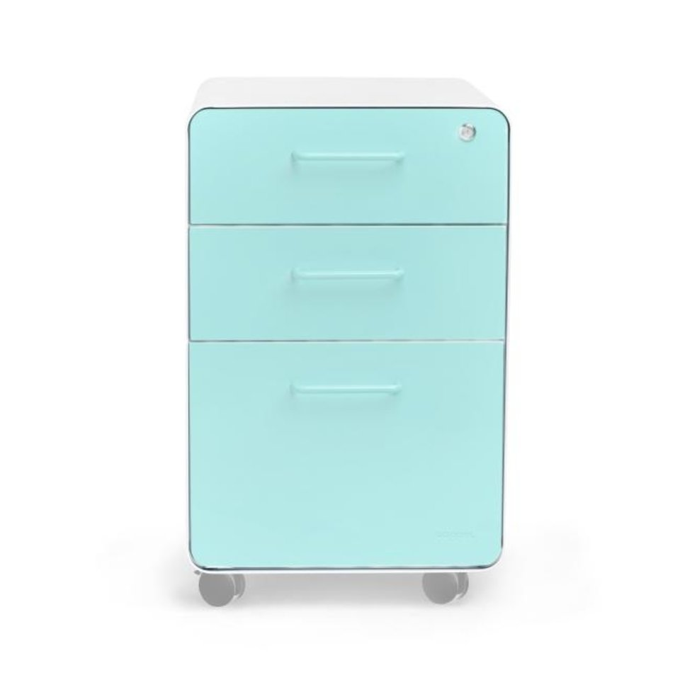 Photo -  Poppin's 3-Drawer File Cabinet comes in 11 colors ($249, poppin.com). [POPPIN]