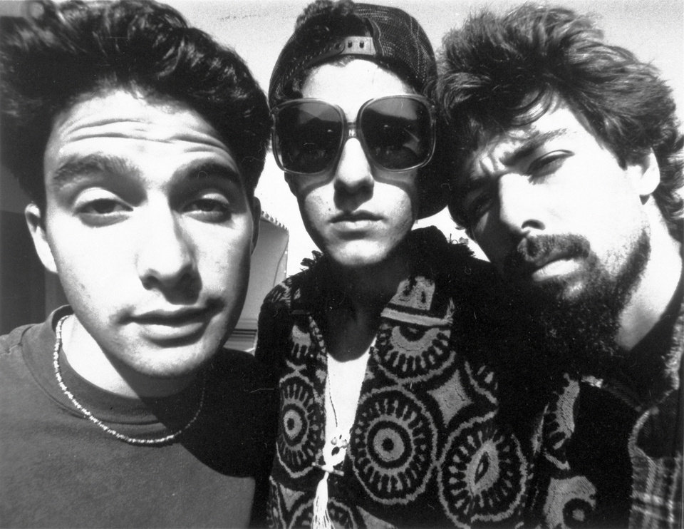 "In this 1989 promotional photo, Beastie Boys members Adam Horovitz, known as ""Adrock,"" Michael Diamond, known as ""Mike D,"" and Adam Yauch, known as ""MCA,"" are shown. AP photo"