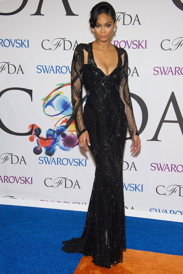 Photo - Chanel Iman attends the CFDA Fashion Awards on Monday, June 2, 2014 in New York. (Photo by Charles Sykes/Invision/AP)