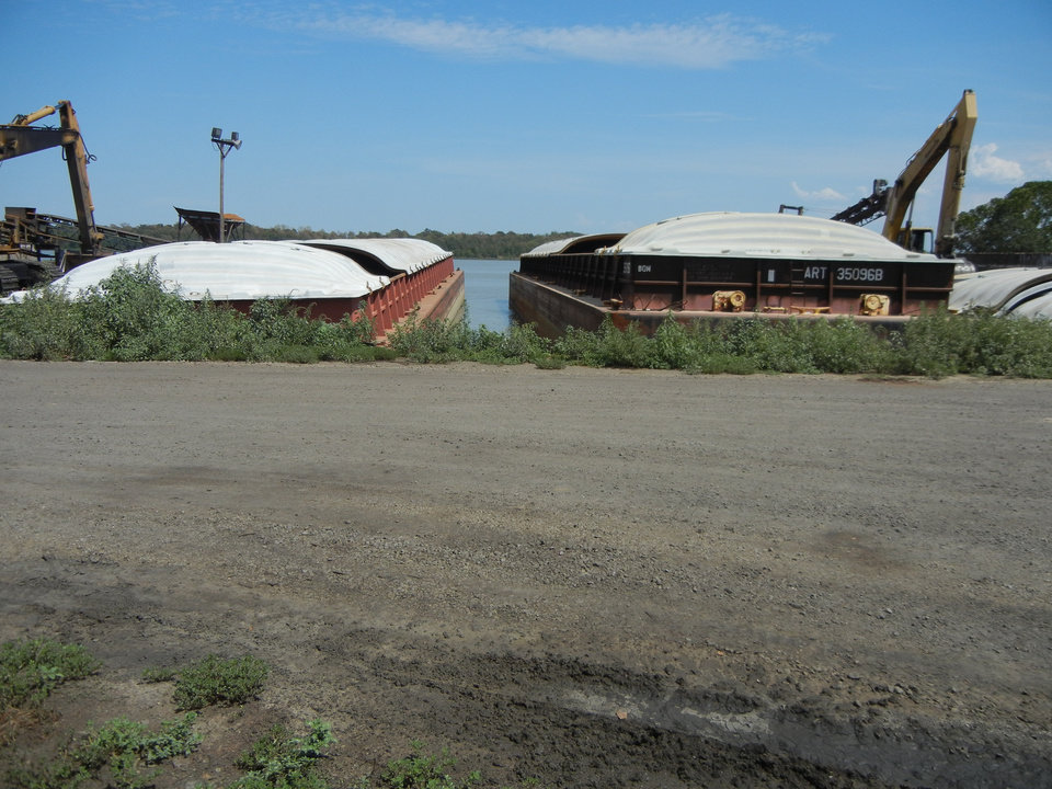 Photo -  Barges are being loaded with coal for export.    -  Photo provided