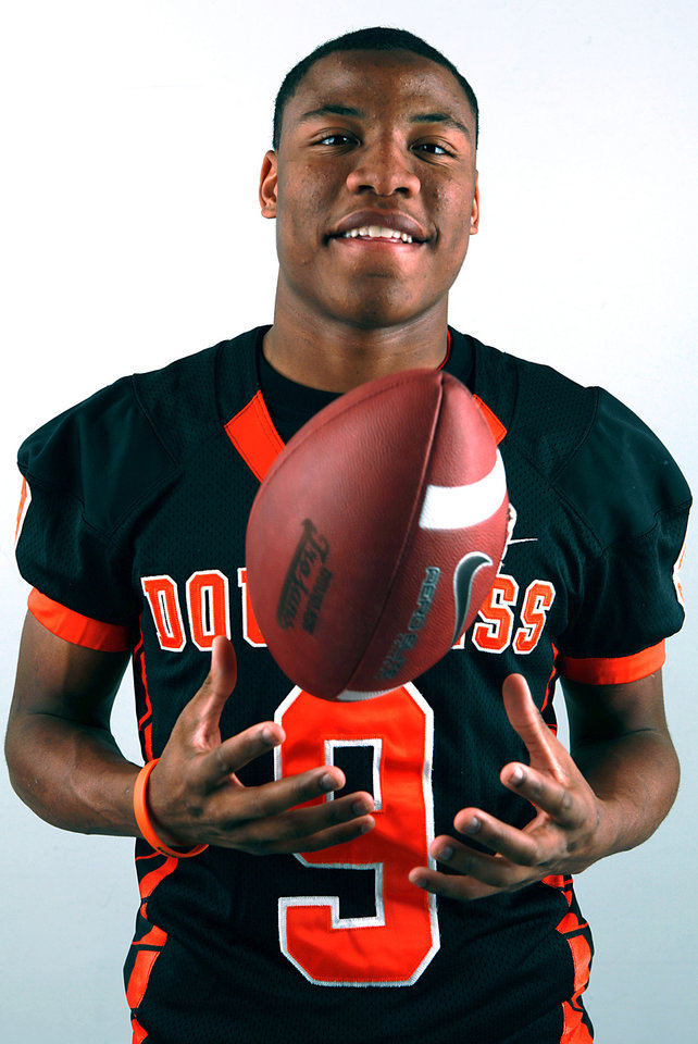 All-State Team player Marcus Caddell, of Douglass, poses at the OPUBCO studios in Oklahoma City on Monday, Dec. 13, 2010. Photo by John Clanton, The Oklahoman