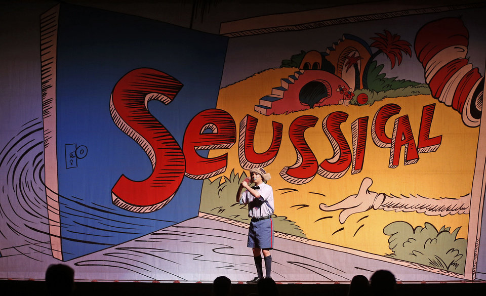 "Ryan Gonzales as Horton the Elephant  goes through a dress rehearsal for the Oklahoma Christian University Music and Theater Department's presentation of ""Seussical"" in Edmond, Wednesday, October 31, 2012. Photo by Bryan Terry, The Oklahoman <strong>BRYAN TERRY - THE OKLAHOMAN</strong>"