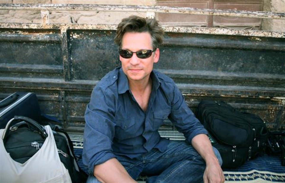 "This undated photo provided by NBC News shows Richard Engel at the end of a reporting trip in Syria in July 2012. NBC's chief foreign correspondent Richard Engel and his production team were released unharmed Tuesday, Dec. 18, 2012, after being held captive for five days inside Syria by an ""unknown group,"" the network says. Engel, 39, has been reporting on the Syrian civil war. (AP Photo/NBC News) MANDATORY CREDIT TO ""NBC News"""
