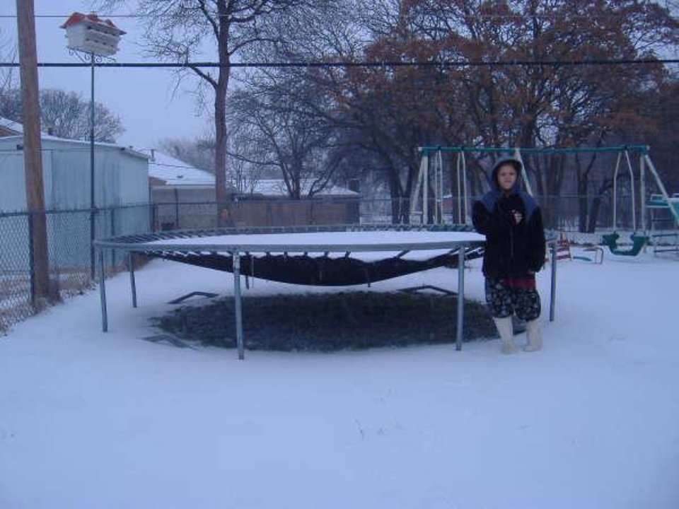 My daughter Melissa by the trampoline @ 11:40 am Sunday 01-14-07.<br/><b>Community Photo By:</b> Elizabeth Adkins<br/><b>Submitted By:</b> liz, Midwest City