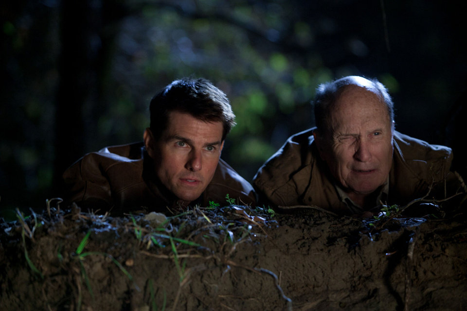 "Tom Cruise and Robert Duvall appear in a scene from ""Jack Reacher."" Paramount Pictures photo. <strong></strong>"