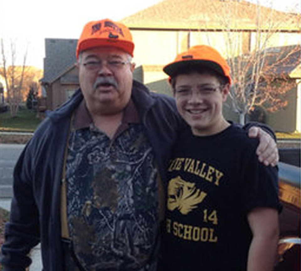 Top: William Lewis Corporon, 69, is pictured with his grandson, Reat Griffin Underwood, 14. Corporon and Underwood were shot and killed Sunday in Overland Park, Kan., in what authorities describe as a hate crime. PHOTO PROVIDED Photo provided by KSHB