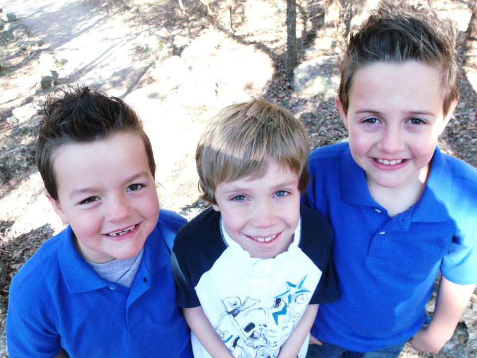 Photo - From left, Landen Frodsham, Jase Sledd and Colten Frodsham are among the faces of juvenile arthritis. PHOTO PROVIDED BY CAROL HARTZOG COMMUNICATIONS