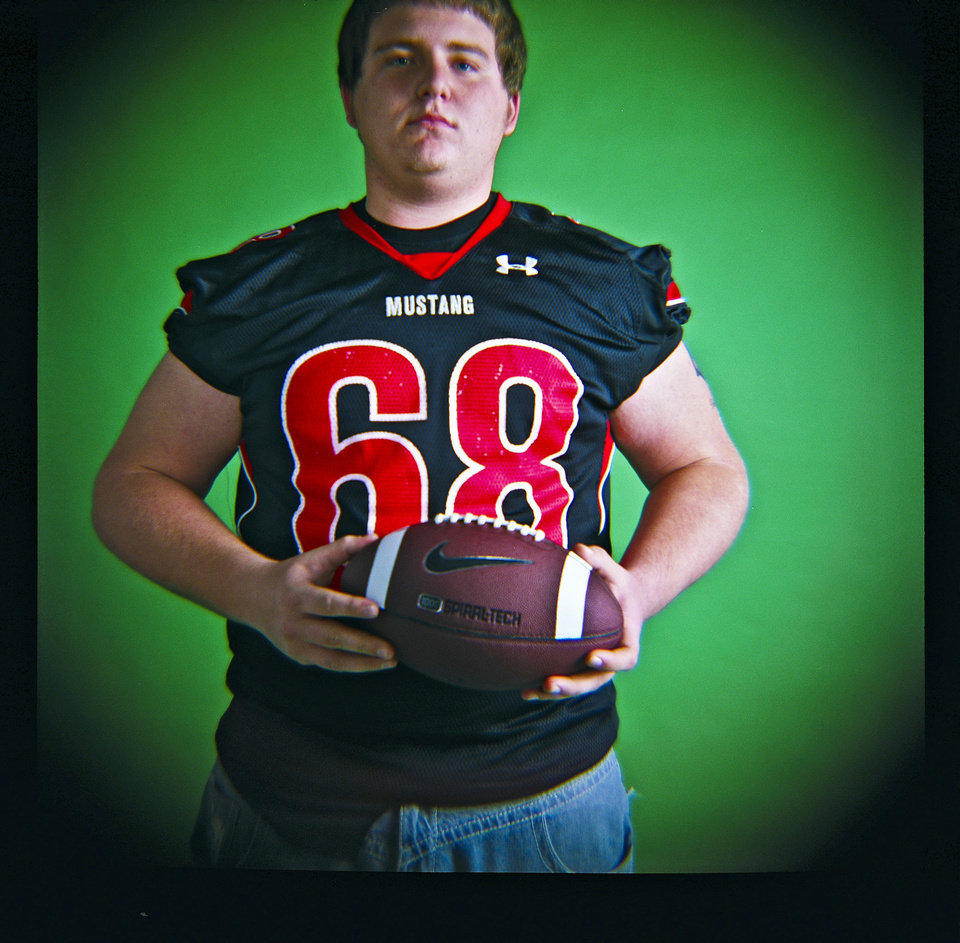 Bronson Irwin of Mustang High School on Monday, Dec. 14, 2009, in Oklahoma City, Okla.   Photo by Chris Landsberger, The Oklahoman