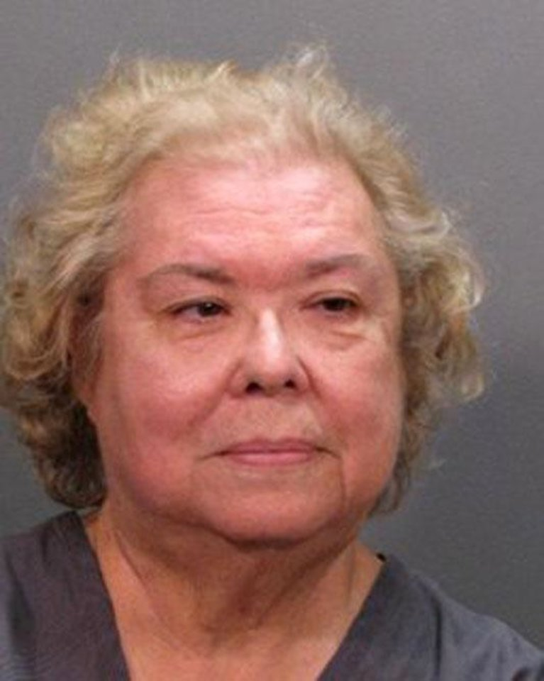 This photo provided by the Jacksonville Sheriff's Department shows Diana Reaves Costarakis ,70, of Middleburg, Fla. Costarakis was arrested after soliciting an undercover detective to kill her daughter-in-law, authorities said. (AP Photo/Jacksonville Sheriff's Department)