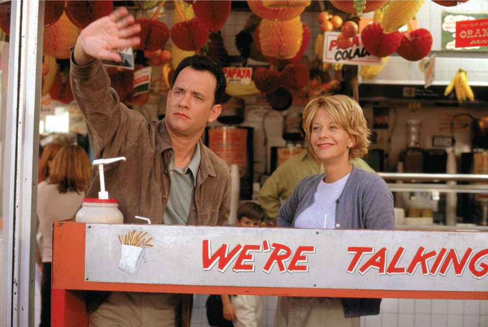 Photo -   This image released by Warner Bros. Home Video shows actors Tom Hanks, left, and Meg Ryan in a scene from the romantic comedy