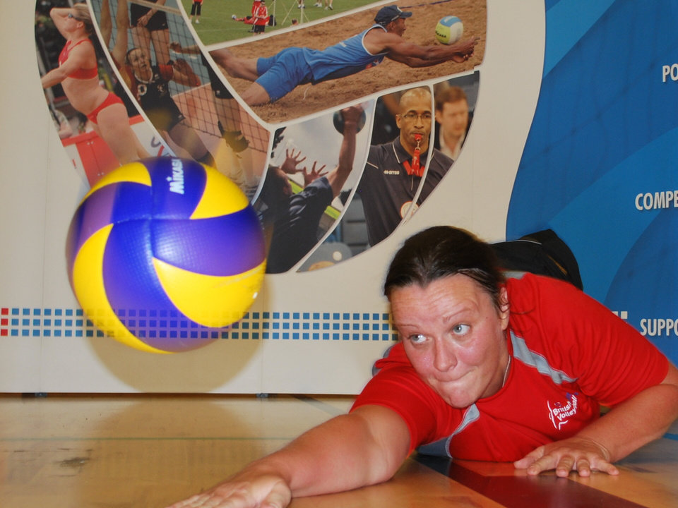 Photo - Great Britain sitting volleyball team member Martine Wright. PHOTO PROVIDED