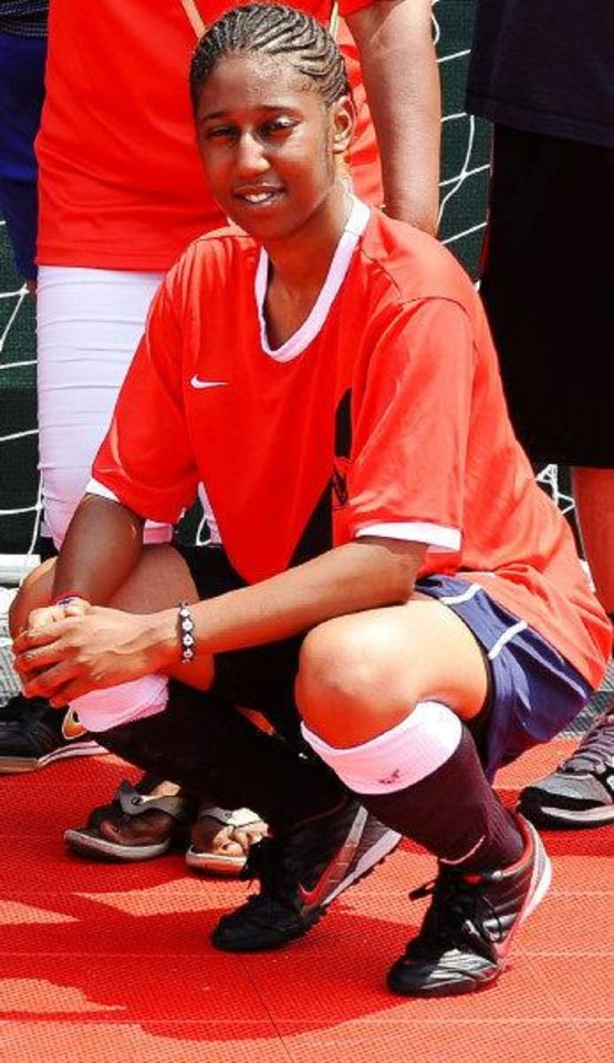 Photo - Former Clinton High School basketball star Rudy Crenshaw last summer at the Street Soccer USA National Cup in Washington, D.C., last summer.   - PHOTO PROVIDED BY STEPHANIE NORRIS