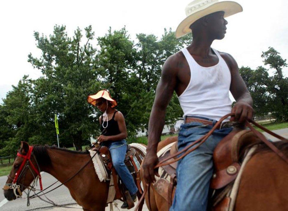 riding horses in Oklahoma City on Sunday, July 26, 2009. By John Clanton, The Oklahoman