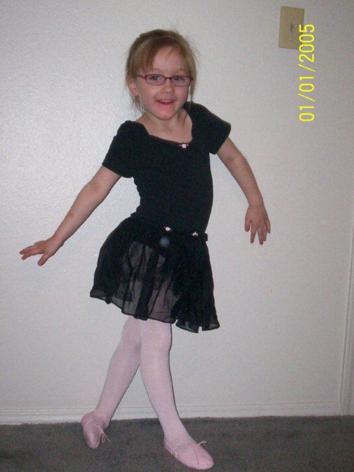 Alexis Morris loved playing ballerina. Photo provided - Photo provided