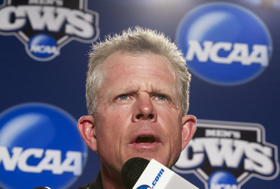 Photo - Vanderbilt coach Tim Corbin speaks at a news conference, Sunday, June 22, 2014, in Omaha, Neb. The NCAA baseball College World Series finals between Virginia and Vanderbilt begin on Monday. (AP Photo/Nati Harnik)