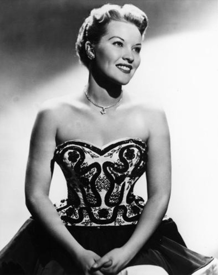 Stock promotional photo of Tulsa native and singer Patti Page (aka Clara Ann Fowler). Photo has date of 9/24/54 on back;  cropped version of photo ran in the 7/17/55 Daily Oklahoman.