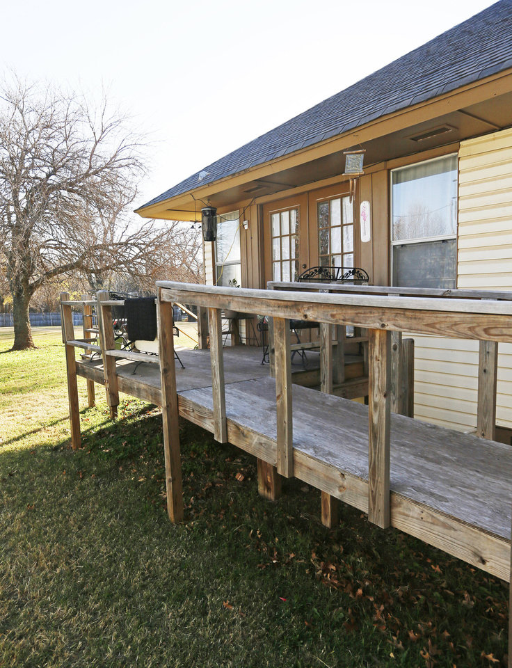 This view shows the wheelchair ramp at Green Acres <strong>NATE BILLINGS - The Oklahoman</strong>