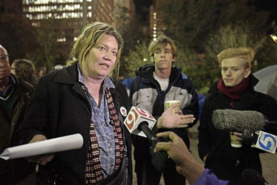 Photo - Beth Isbell A moderator for the  Occupy OKC group