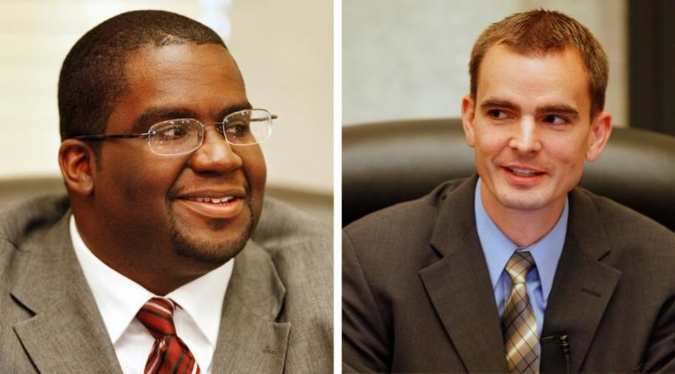Photo - (From Left) Councilman John A. Pettis Jr. and Councilman James Greiner