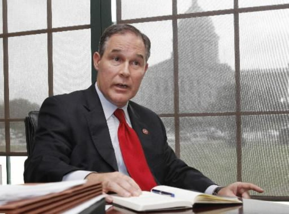 Photo - Oklahoma Attorney General Scott Pruitt -- File photo