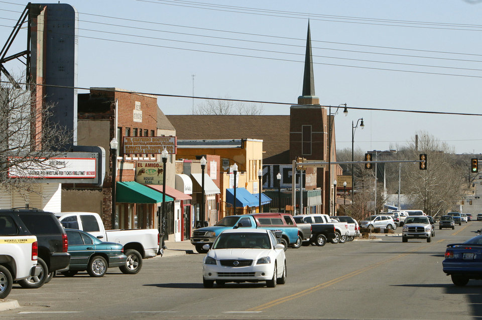 Photo - This is the downtown area of Capitol Hill along SW 29th St. in SW Oklahoma City, OK, Friday, January 24, 2014,  Photo by Paul Hellstern, The Oklahoman