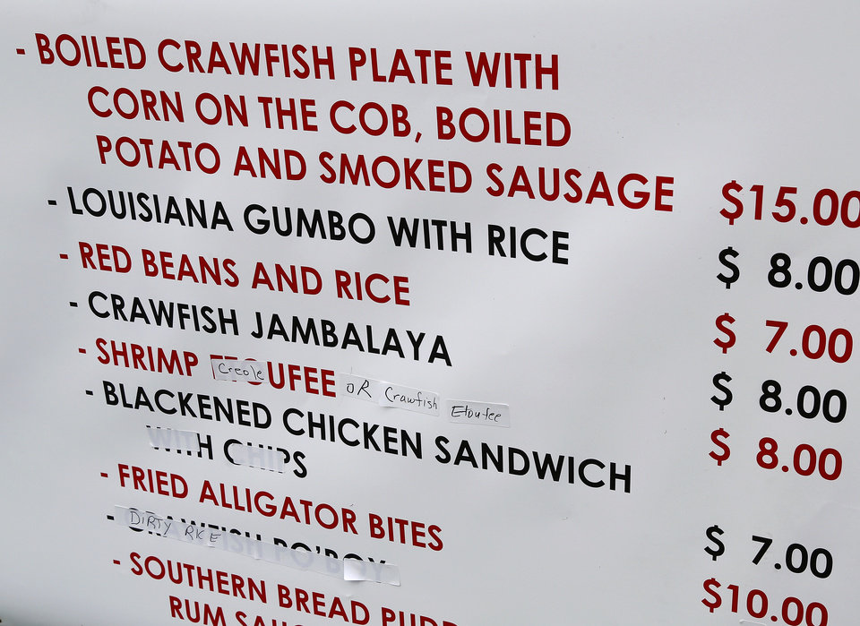 Photo -  Visitors could select from a variety of Cajun-style food offerings at the Chisholm Trail Crawfish Festival. Photo by Jim Beckel, The Oklahoman   Jim Beckel -
