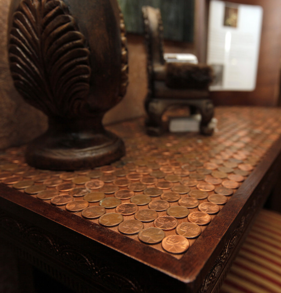 A detail from a table in Room 17, by Nora Johnson, Gold N Design, at the Symphony Show House, 440 NW 15, in Oklahoma City, Wednesday, May 2, 2012. Photo by Nate Billings, The Oklahoman