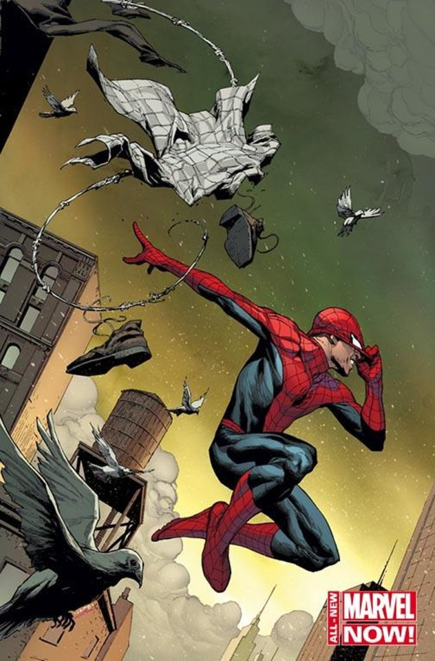 "Photo -  A variant cover to ""The Amazing Spider-Man"" No. 1 by Jerome Opena. Provided by Marvel Comics"