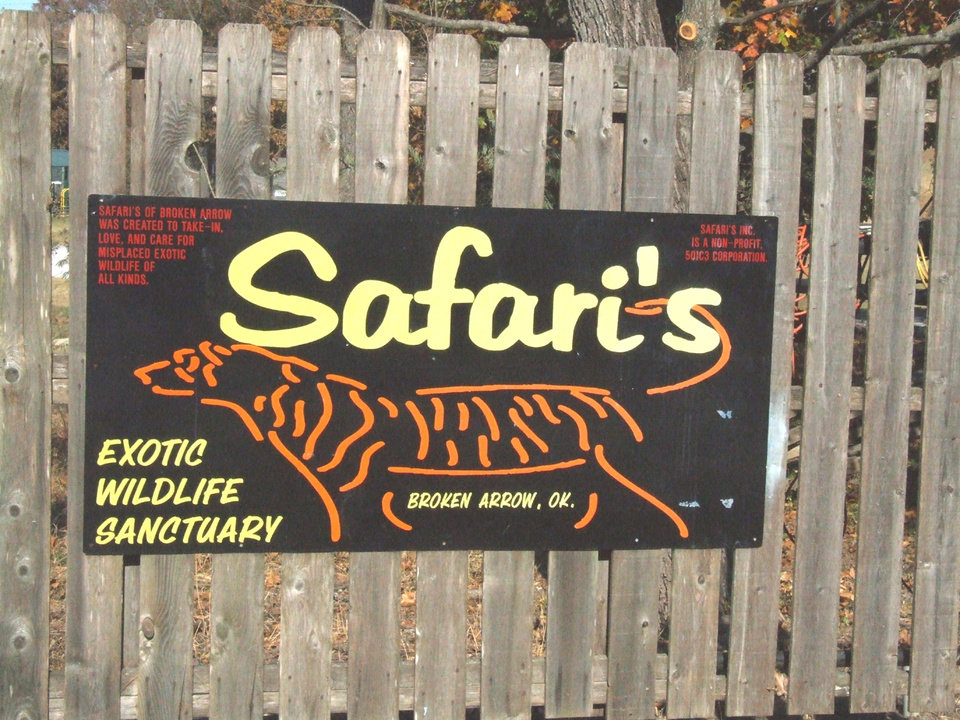 The entrance to Safari�s Exotic Wildlife Sanctuary is seen in this photo by Larry Levy.