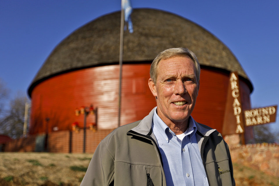 Jimmy Blue poses for a photo at the Round Barn on Thursday, Feb. 16, 2012, in Arcadia, Okla..The Round Barn will celebrate it 20th anniversary of its renovation completion in April 2012.  Photo by Chris Landsberger, The Oklahoman