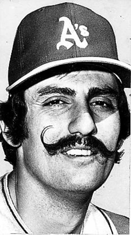 Photo - MAJOR LEAGUE BASEBALL PLAYER / OAKLAND A'S: Rollie Fingers (Published 2/13/1974 in The Daily Oklahoman)