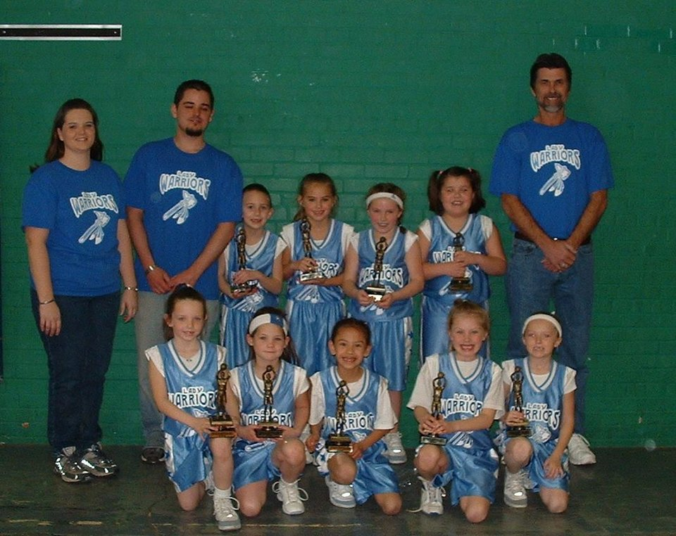 Lady Warriors, 1st place.  Top Row left to right: Laurie, Ray, Brooke, Bailey, Holley, Abbie, Mark. Bottow Row left to right: Aleesha, Bradleigh, Lillian, Alex & Katie,<br/><b>Community Photo By:</b> Les Holcombe<br/><b>Submitted By:</b> Laurie, Newalla