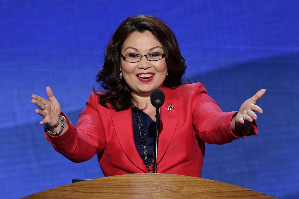 Photo - Former Assistant Secretary, U.S. Department of Veterans Affairs Tammy Duckworth addresses the Democratic National Convention in Charlotte, N.C., on Tuesday, Sept. 4, 2012. (AP Photo/J. Scott Applewhite)  ORG XMIT: DNC158