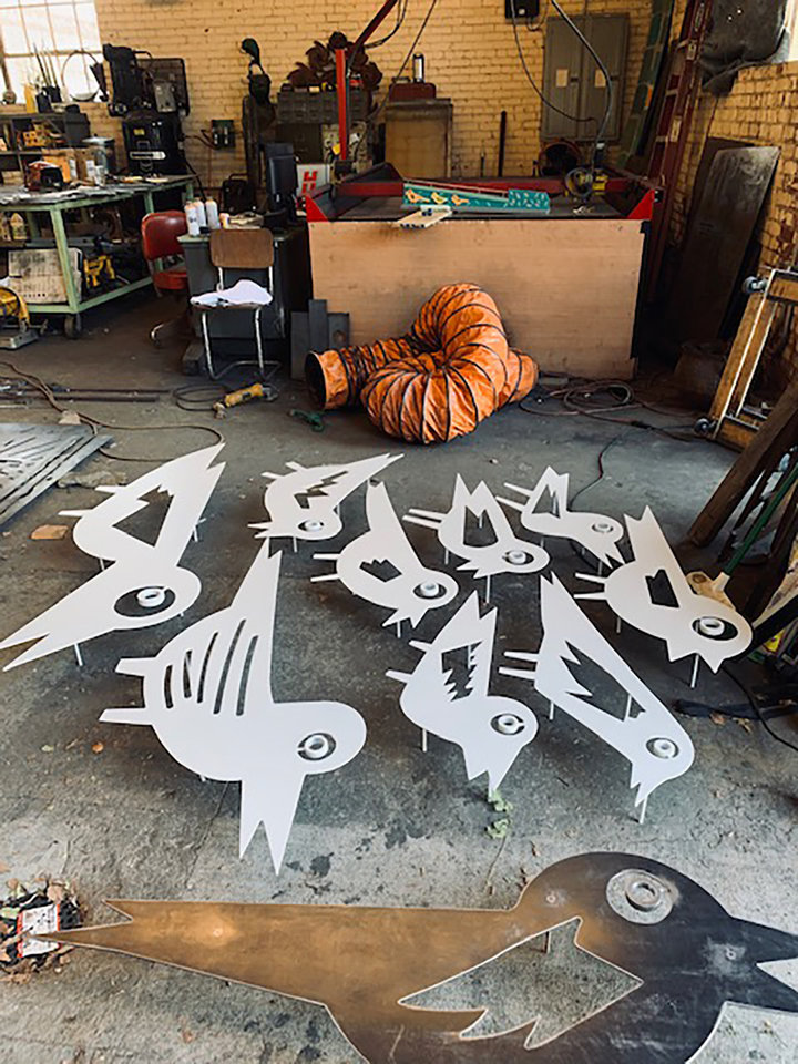 Photo - Metal birds for the sculpture. LILLIE -Beth Brinkman PHOTO