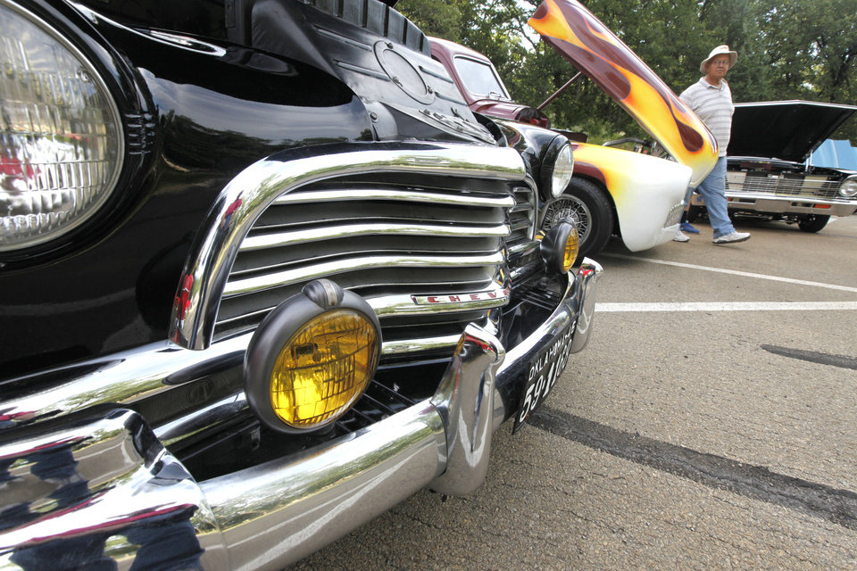 Automobile enthusiasts enjoy the 11th annual car show, part of the LibertyFest celebration at Hafer Park in Edmond, OK, Saturday, June 29, 2013,  Photo by Paul Hellstern, The Oklahoman