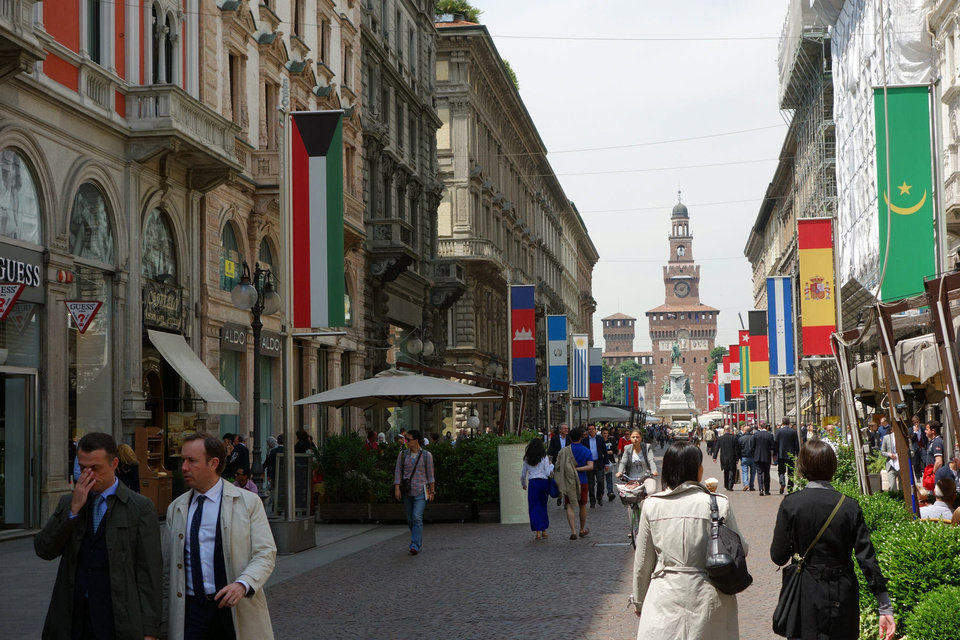 Photo - Milan?s shopping streets are ideal for both people-watching and window shopping. Photo by Rick Steves