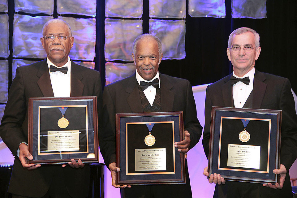 Photo - Dr. James Mosley, the Rev. J.A. Reed Jr., Jim Reese. PHOTOS PROVIDED