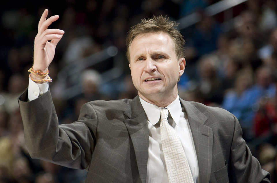 Thunder head coach Scott Brooks wears bracelets made by his children on his right wrist at all times. PHOTO BY SARAH PHIPPS, THE OKLAHOMAN