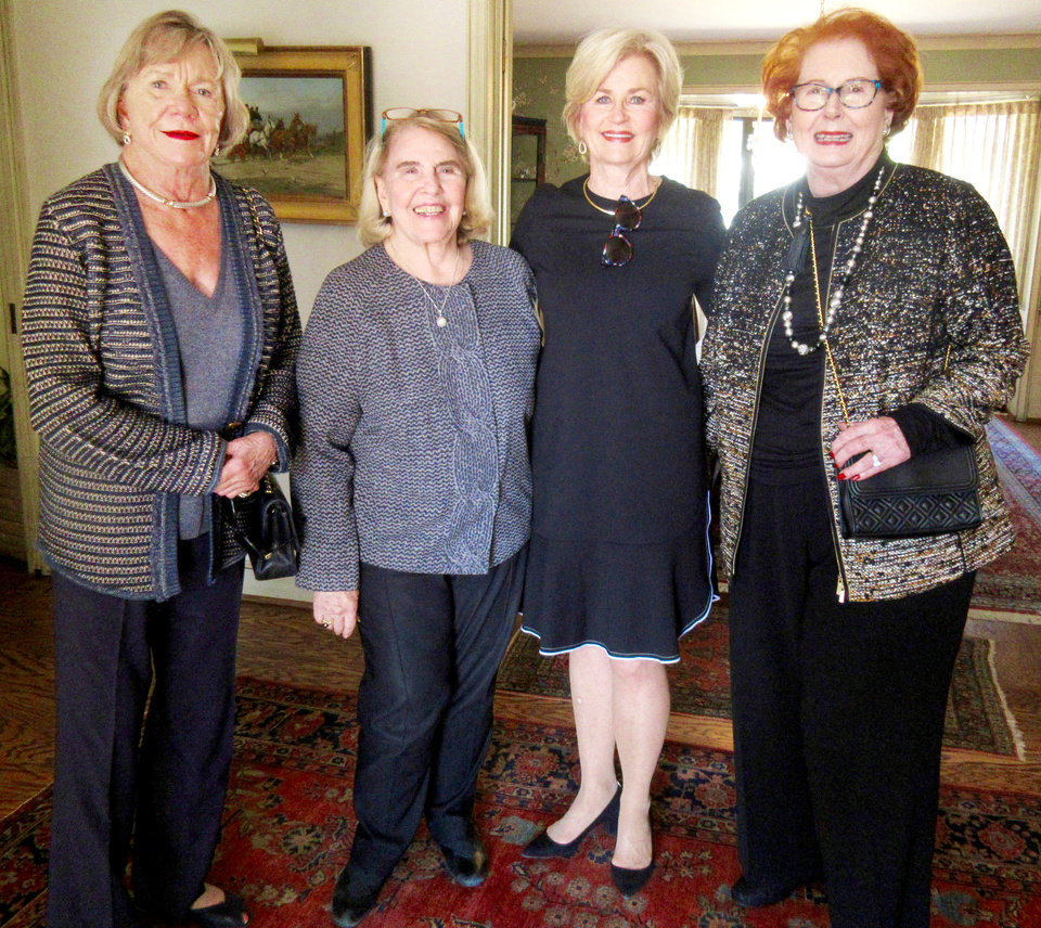 Photo - Anne Workman, Anne Dalton, Martha Bradshaw, Lil Ross. PHOTO BY HELEN FORD WALLACE
