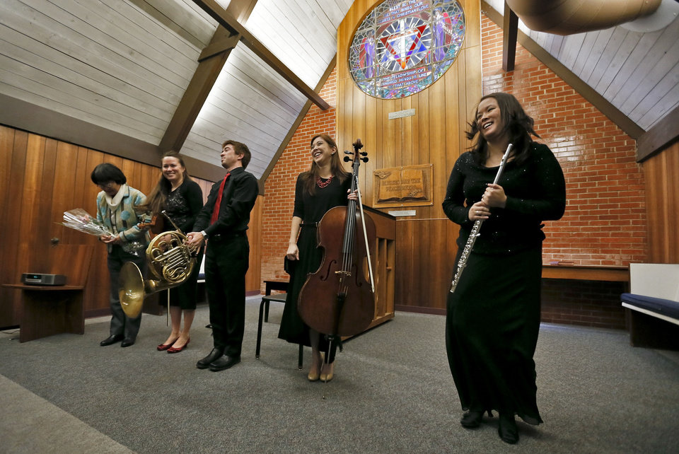 From left: Hiromi Hood, Ami Mariko Hood Frost, Kenji Scott Hood, Mika Marie Hood and Rika Renee Hood Burr are seen at the Y Chapel of Song at the University of Central Oklahoma. Photos by Chris Landsberger, The Oklahoman