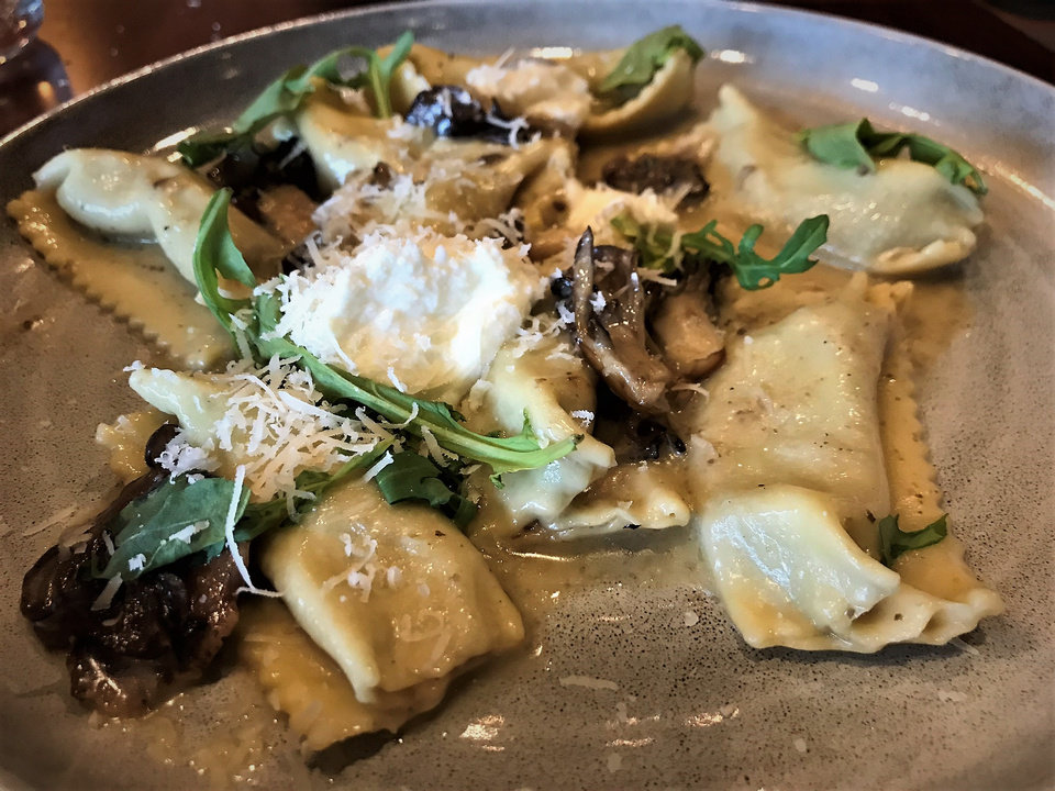 Photo - Mushroom Agnolotti from Sparrow Modern Italian in Edmond. [Dave Cathey/The Oklahoman]