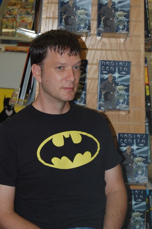 Comic book writer Jackson Compton.  Photo by Annette Price, for The Oklahoman. <strong></strong>