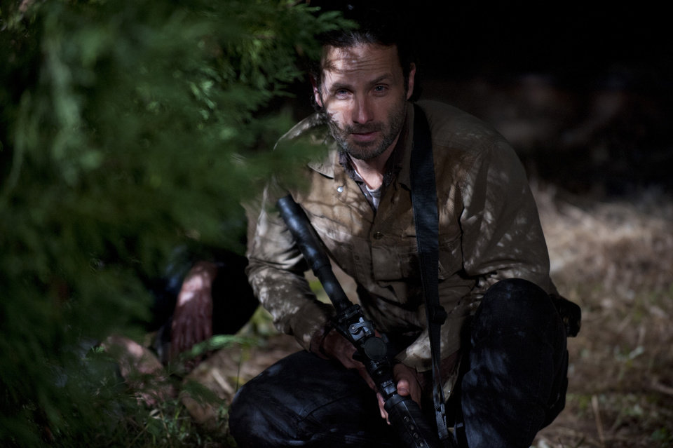 Rick Grimes (Andrew Lincoln) - The Walking Dead - Season 3, Episode 16 - Photo Credit: Gene Page/AMC